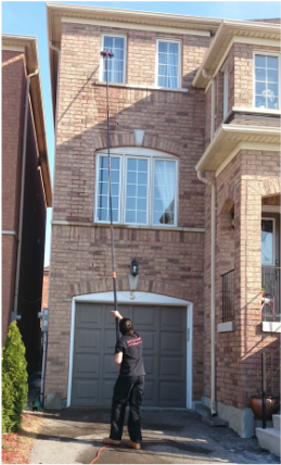 2 story home cleaned by purepro window cleaning in North York